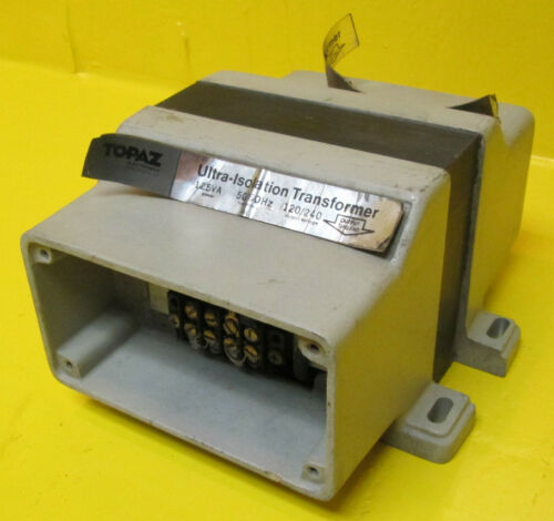 Topaz Ultra-Isolation Transformer 91091-11 Cap .005 125 VA 120//240 V Square D