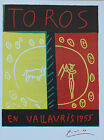 Pablo Picasso Lithograph Toros en Vallauris First Edition 1957