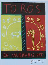 Pablo Picasso Lithograph Toros en Vallauris First Edition 1957