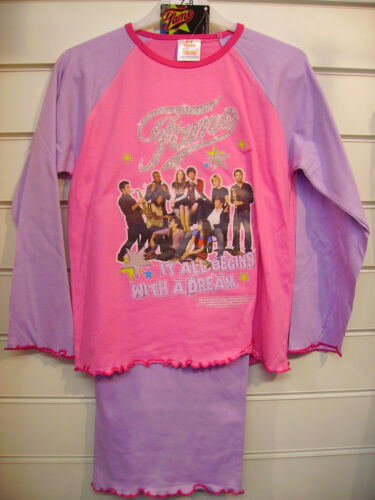 Fame Lilac Quality Girls Pyjamas Aged 7-8 Years Long Sleeves and Legs
