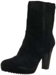 Nuevo En Caja Nine West Perusha Negro botas De Gamuza Mitad de Pantorrilla Bota EE. UU. 12M precio minorista sugerido por el fabricante