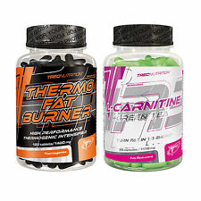 Thermo Fat Burner 120 Tabl. + L-Carnitine & Green Tea 90 Caps. Slimming Pills