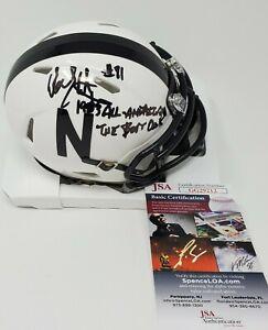 Dean Steinkuhler Signed Autographed INSCRIBED Nebraska Huskers Mini Helmet JSA