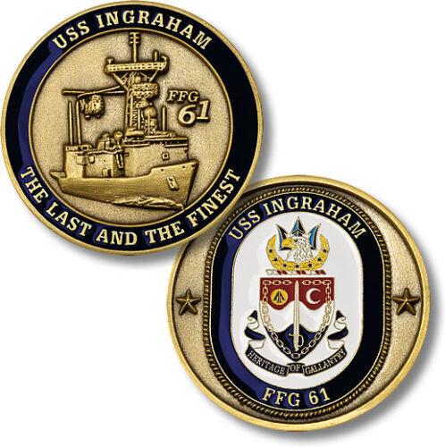 USS Ingraham Challenge Coin FFG-61 US Navy Fast Frigate USN Ship Guided Missile