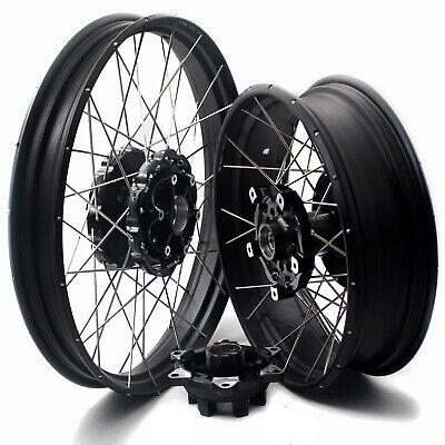 VMX 2.15*21//4.25*18 Tubeless Wheels Rims For HONDA Africa Twin BLACK hub /& rim