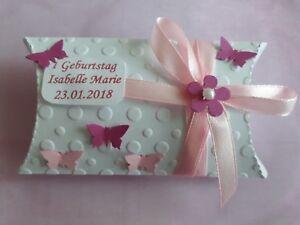 10-Rosa/Pink Geschenkbox Gastgeschenke Taufe, 1,2.. Geburtstag,Kin<wbr/>der Geburtstag