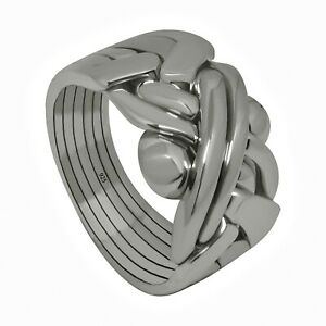Puzzle-ring-925-solid-silver-6-band-pusselring-puslespilring-AnneauDEpuzzlem-GBO