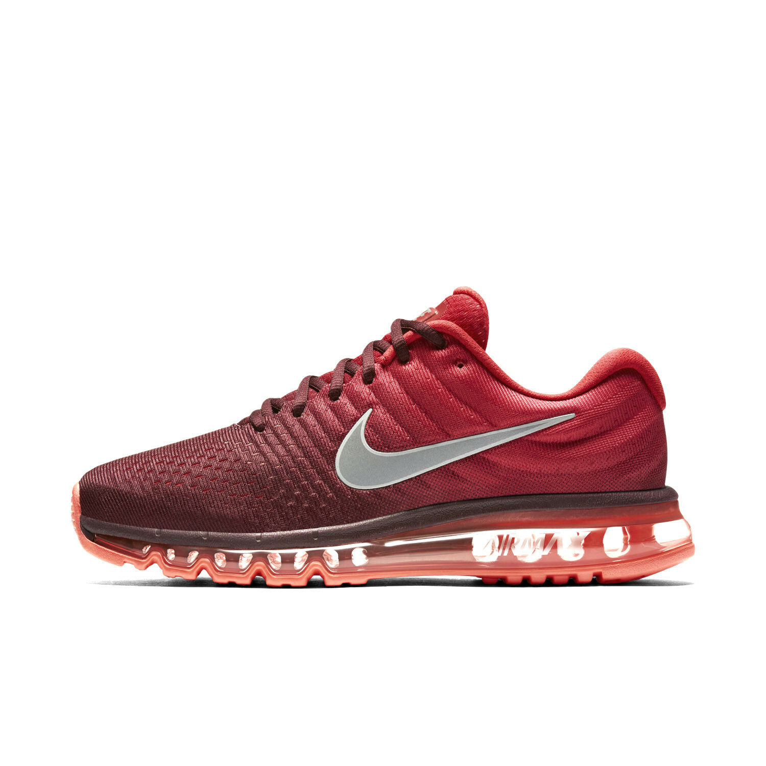 Nike Air Max 2017 Men's shoes Sizes 10-13 Night Maroon Gym Red Siver 849559-601