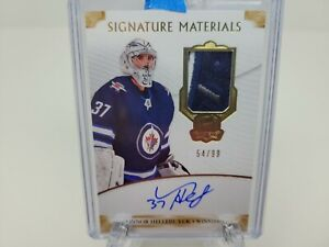 Connor Hellebuyck Auto Patch 54/99 2019-20 Upper Deck The Cup Winnipeg Jets!!!