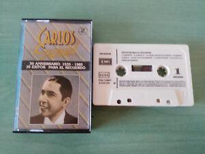 CARLOS-Gardel-exitos-Tangos-50-Anniversary-Spain-Edition-Cinta-Tape-Cassette