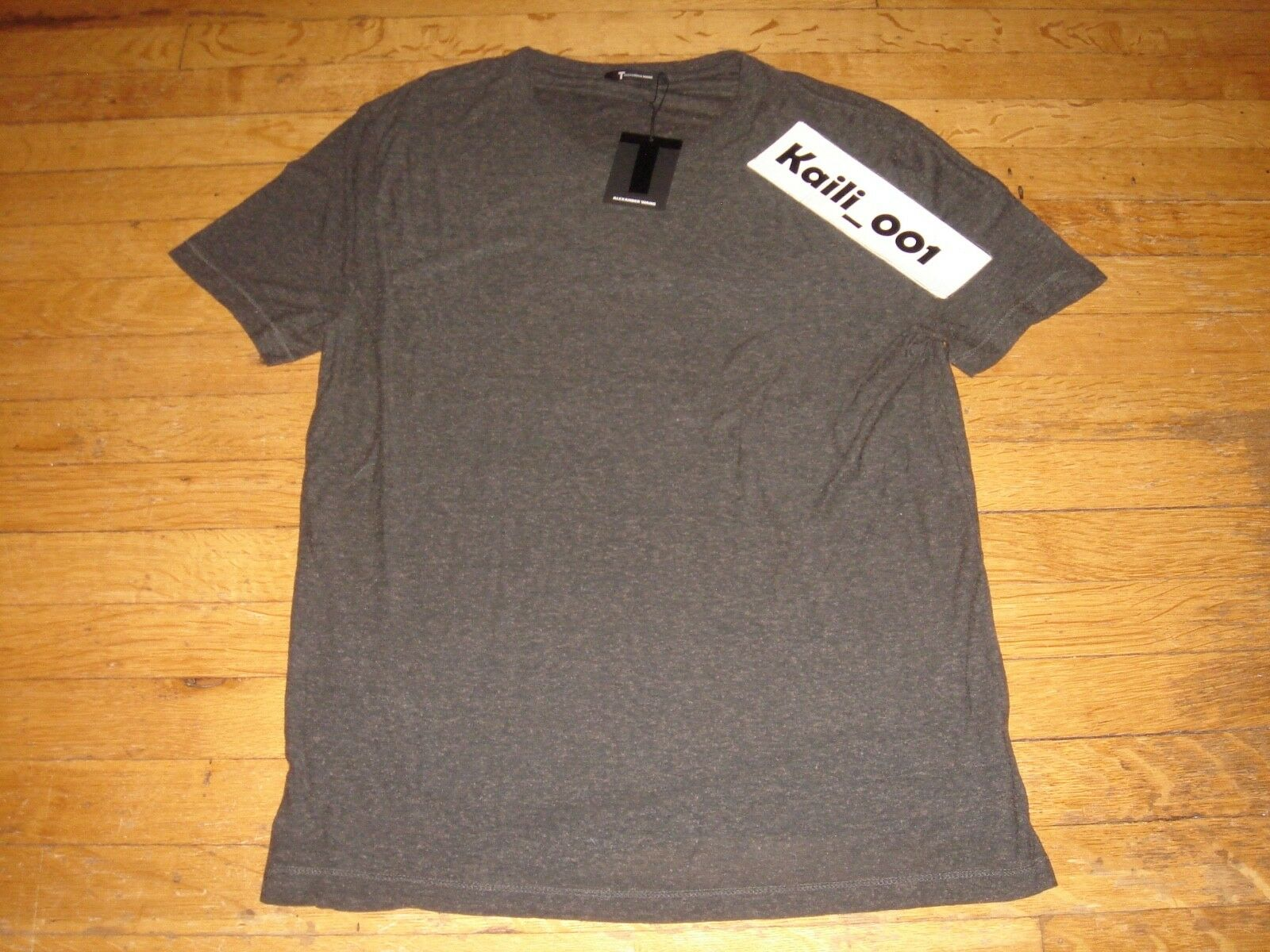 T By Alexander Wang Slub Silk Tee Größe Medium Charcoal B