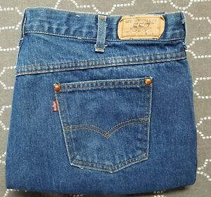 215185bcba1 Levis 557 mens size 43x32 cowboys vintage blue jeans dark wash denim ...