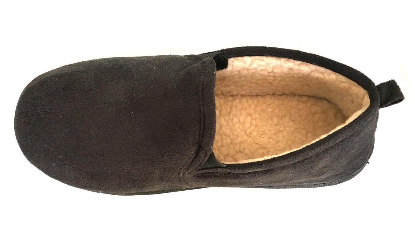 New Men's Fur Classic Moccasin Slipper Rubber Bottom Suede Faux Fur Men's Slip on-0220 19df74