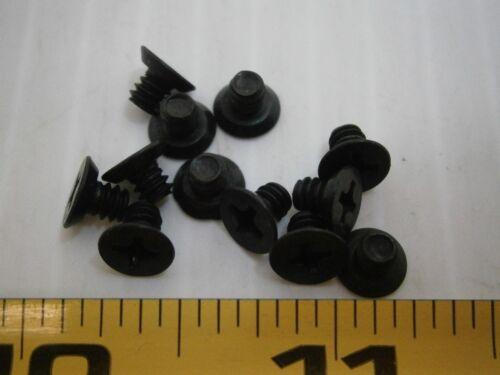 "6-32 3//16/"" L Phillips flat undercut stainless steel black oxide lot of 100 #1083"