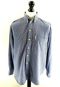 Ben-Sherman-Mens-Shirt-XL-purpura-Algodon-Cuadros-Blancos