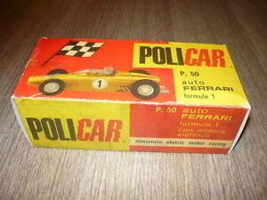POLICAR-BOX-REPLICA-P50-FERRARI-F1-SLOT-CAR-PISTA-ELETTRICA-SCALA-1-32