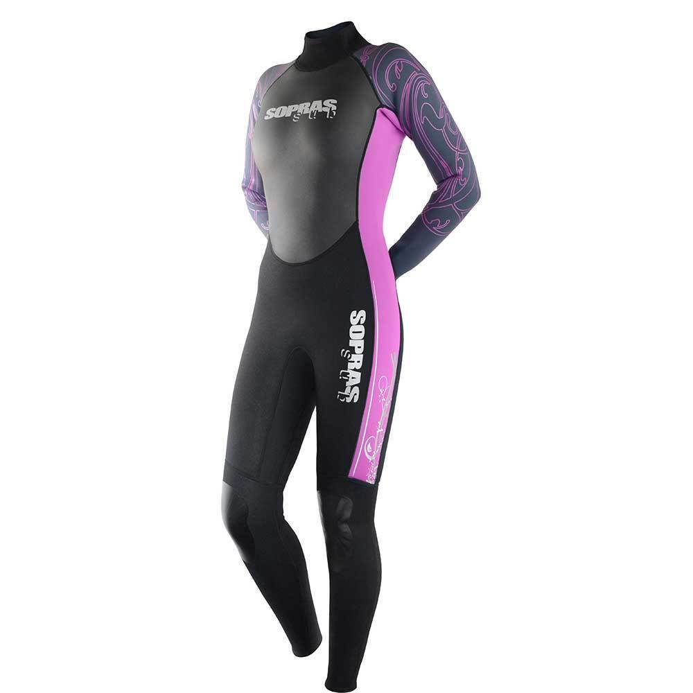 SOPRAS SUB WETSUIT ISIDA WOMAN 3MM RED SCUBA DIVING SURFING FREEDIVING SUIT