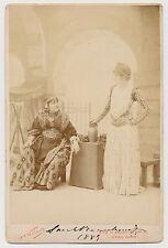 Sarah Bernhardt Signed 1885 Cabinet photo Nadar Vintage Actress Autograph