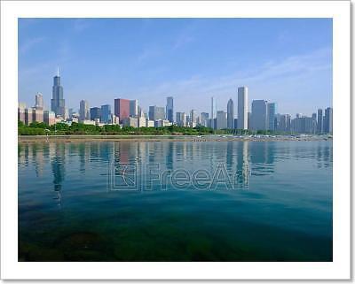 Home Decor Wall Art Poster Chicago Skyline Art//Canvas Print C