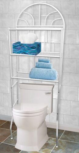 SS10058 Home Basics NEW Over the Toilet White 3 Shelf Bathroom Space Saver