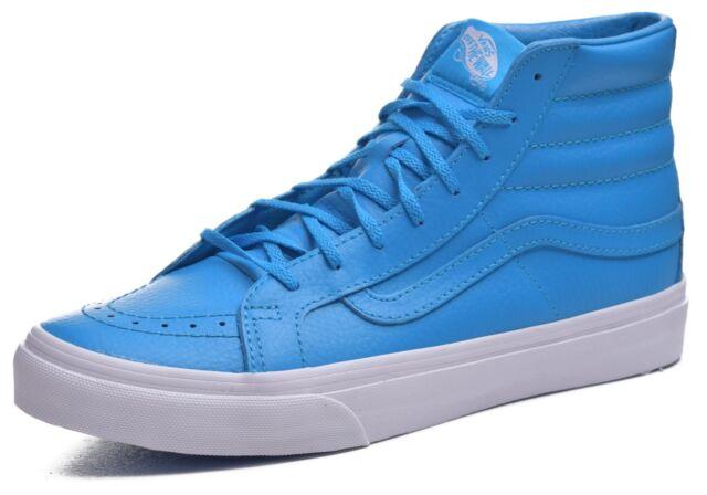 46735ecbb5445f VANS Sk8 Hi Slim Women s Size 9 M 7.5 Neon Blue Leather OTW RARE for ...