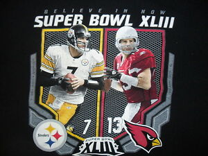 Superbowl-Xliii-T-Shirt-Ben-Roethlisberger-Kurt-Warner-Pittsburgh-Steelers-L