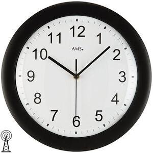 AMS-5935-Horloge-Murale-Radio-pilotee-boitier-en-plastique-coloris-noir