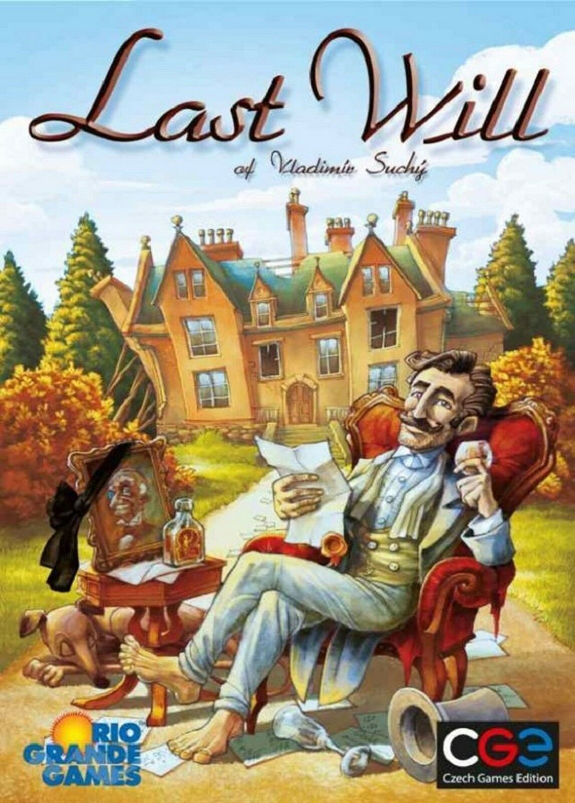 CGE jeux  Last Will Board Game + se retira Expansion Bundle (Nouveau)
