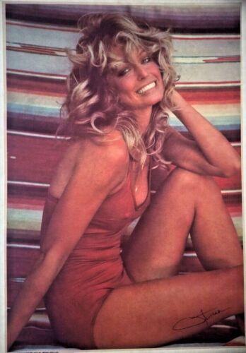 Original Vintage Farrah Fawcett Iron On Transfer Charlie/'s Angels