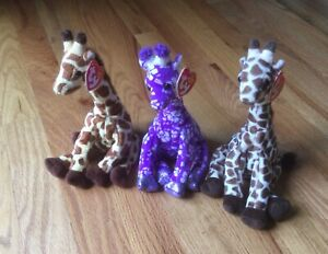Ty GIRAFFE Beanie Babies - JUMPSHOT, SUNNIE, SLAMDUNK - New