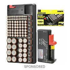 Zerodark Battery Organizer With Removable Battery Tester Holds 110 Batteries Bat