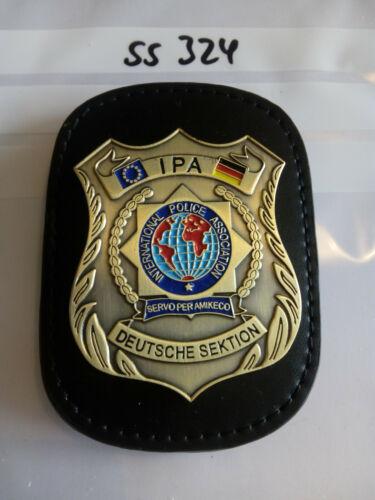 Polizei IPA Marke Deutsche Sektion auf Lederklip 1 Stück ss324