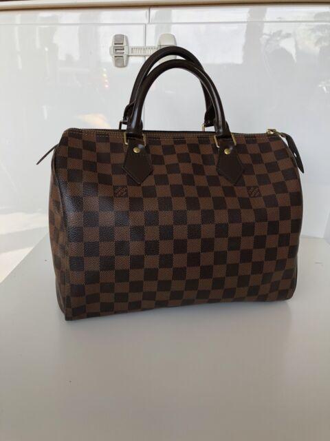 Auth LOUIS VUITTON Damier Speedy 30 Brown Hand Bag