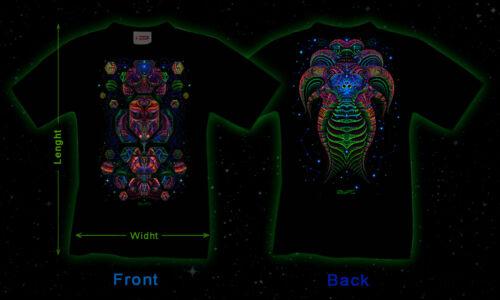 psy trance festival wear UV T-Shirt black light psychedelic visionary clothing