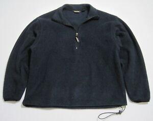 WOOLRICH-Men-039-s-Medium-Navy-Blue-POLARTEC-1-2-Zip-Pull-Over-Fleece-Jacket-578
