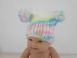 ea20a08551e0 Hand knit baby hat- baby pom pom hat-photo prop-photography prop ...