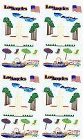 Mrs Grossman's Scrapbook Stickers Los Angeles Ca Santa Monica Pier Surf 4 Sheets