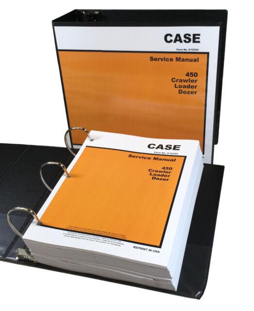 Case 450 skid steer loader service manual (6-77780na).