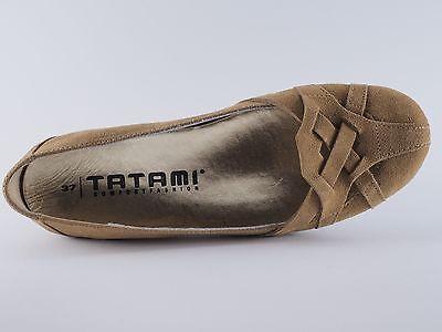 TATAMI lic.by Birkenstock Ivana Zapatos Marrones 36 Terciopelo Bailarinas NUEVO