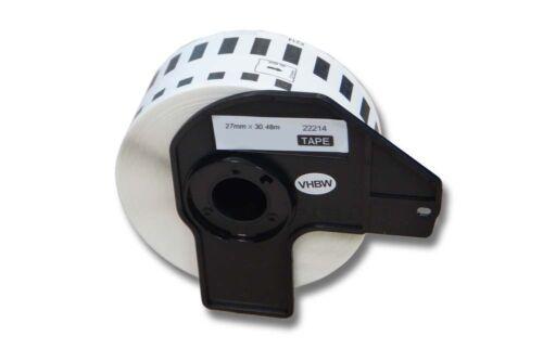 ENDLOS DRUCKER ETIKETTEN 27mm x 30.48m WASSERFEST für BROTHER P-touch QL-720 NW