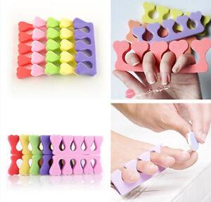Hot-Soft-Sponge-Finger-Toe-Separator-Tool-Nail-Art-Pedicure-Manicure-10-pcs-E