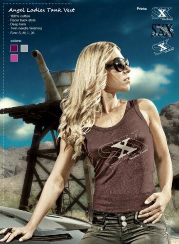 Scitec vingt Nutrition Femmes Filles Sans Manches Tank Top T shirt débardeur prune