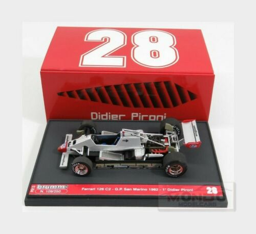 Ferrari F1 126C2 #28 Winner San Marino Imola Gp 1982 Pironi BRUMM 1:43 P013 Mode