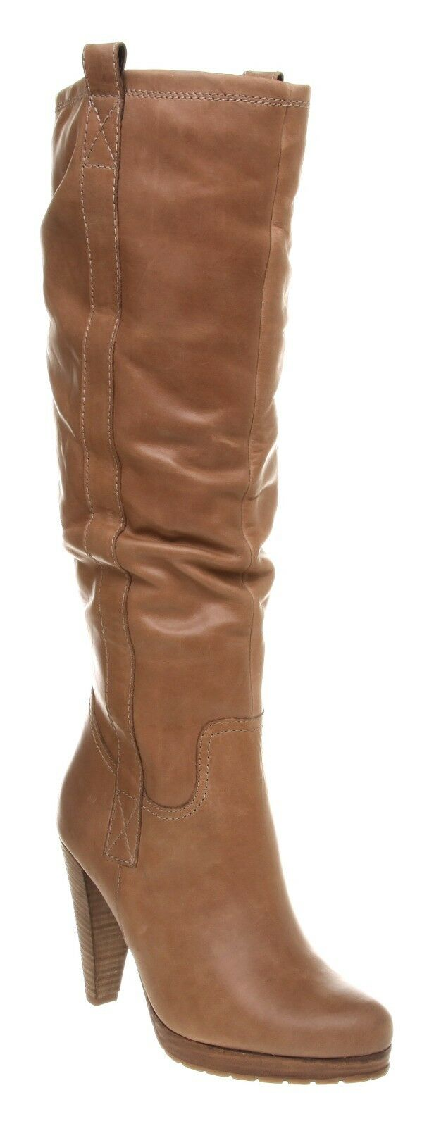 Office Conform Platform Knee Bt Natural Leather Boots Reg-Price $259.99