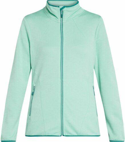 McKinley Damen Freizeitjacke Wander-Outdoor-Fleece-Jacke ROTO II grün Kinnschutz