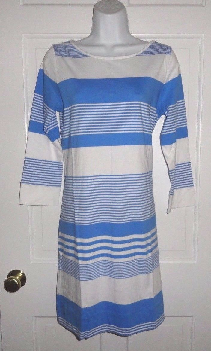 NWT LILLY PULITZER BAY blueE COCONUT STRIPE MARLOWE DRESS