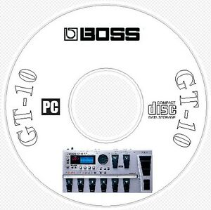 boss gt 10 sounds patch library manual midi software editors cd rh ebay com gt power a6-10 manual gt-10 manuel francais
