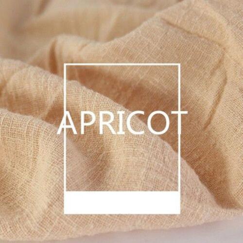 Cotton Linen Fabric Organic Material Natural Flax Craft DIY Clothes 130x100cm