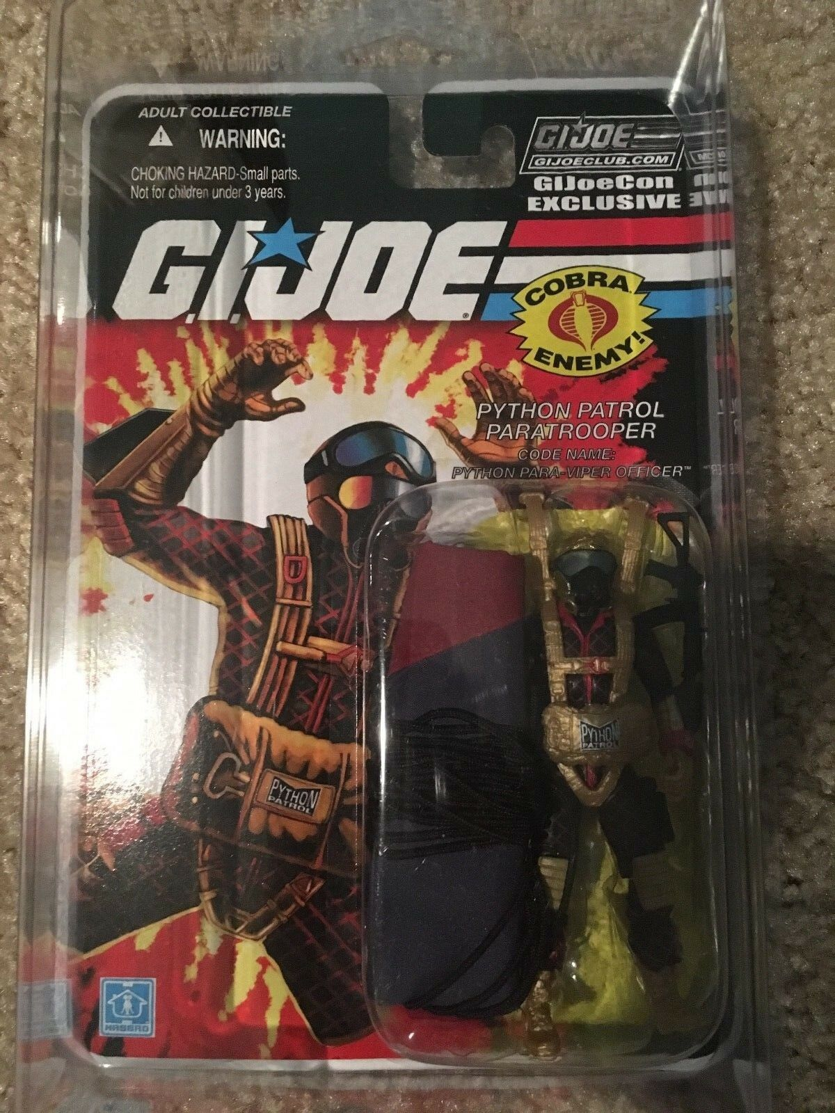 Gi Joecon 2018 Marauders Cobra viper Paratrooper carded w  predective case