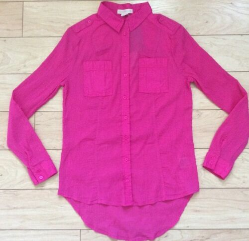 Edme /& Esyllte Cotton Stratus Buttondown Blouse Shirt Pink NW ANTHROPOLOGIE Tag